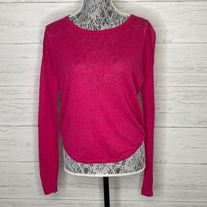 Joie Linen Blend Demilla Top Blouse Sweater
